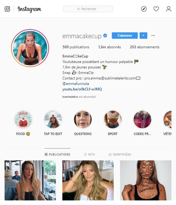 Emma Cakecup Instagram