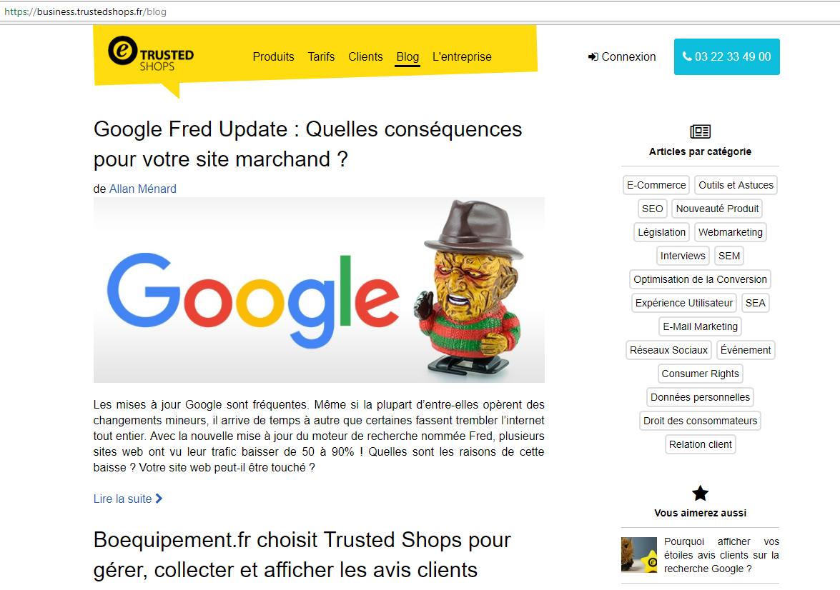 Blog avis client Trustedshop