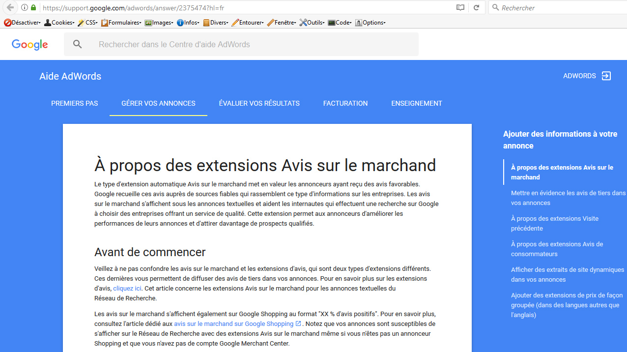 Services de notations clients, approuvés par Google