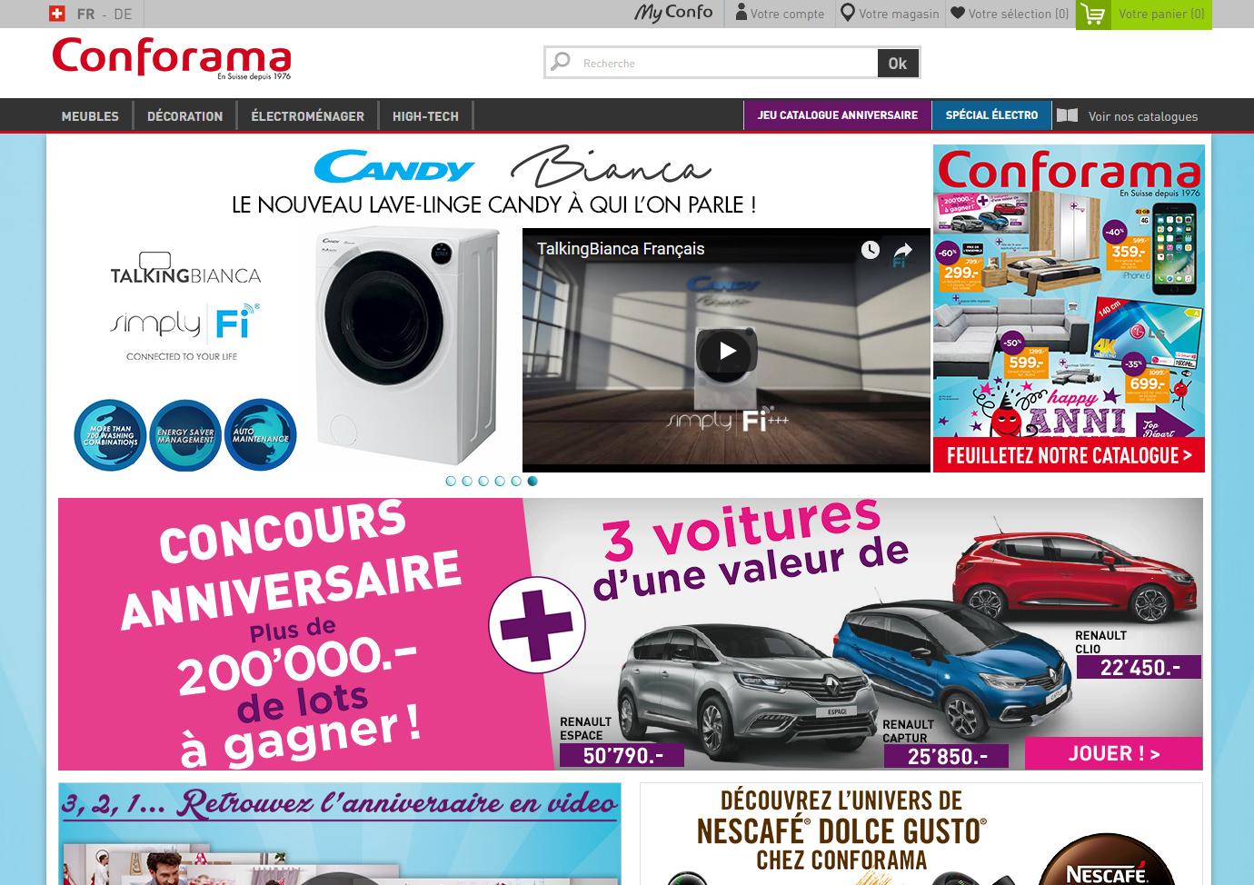 E-commere Conforama Suisse
