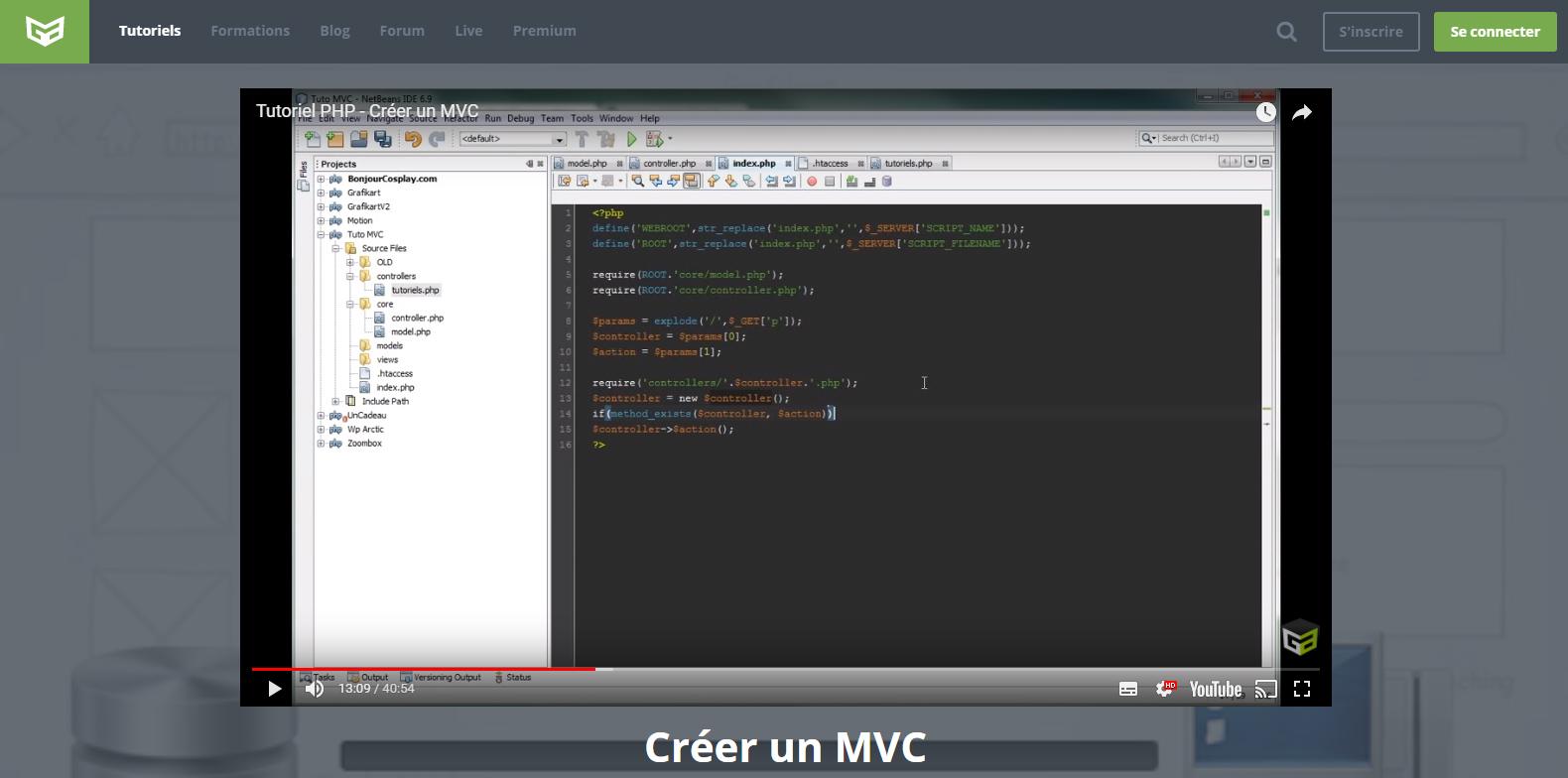 Projet MVC PHP