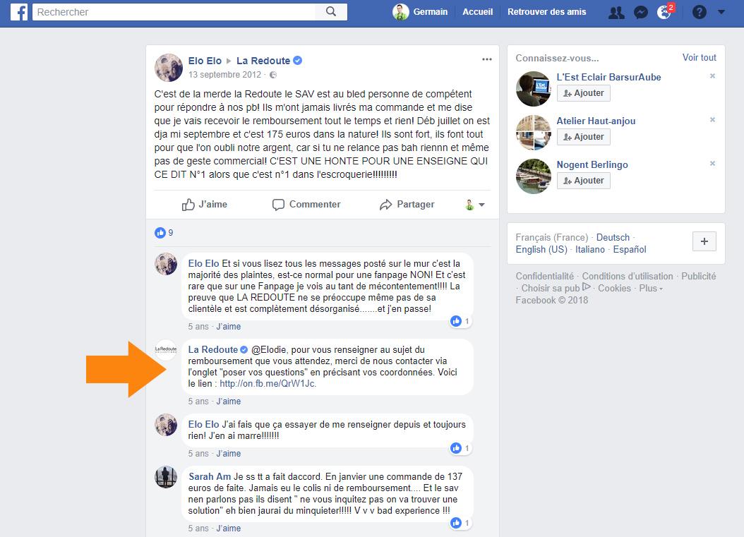hater sur Facebook