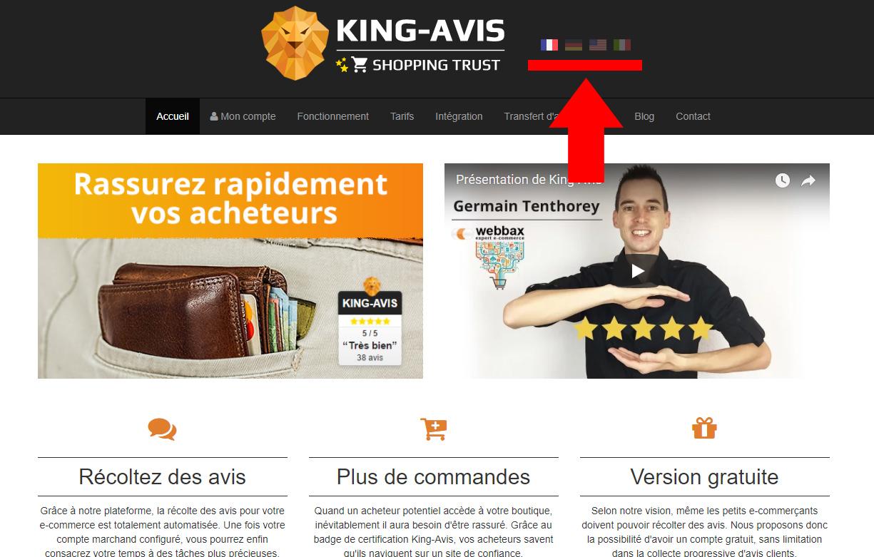 King-Avis multilingue