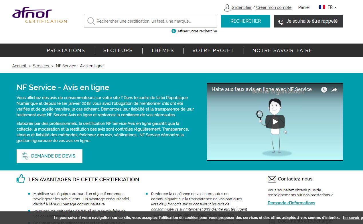 Site internet AFNOR