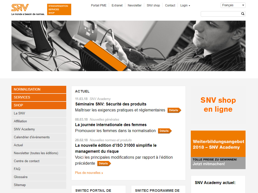 Normes ISO Suisse