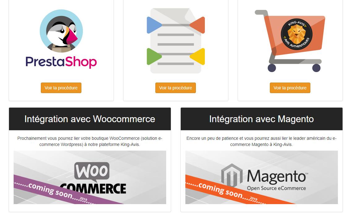 Avis clients Magento & Woocommerce