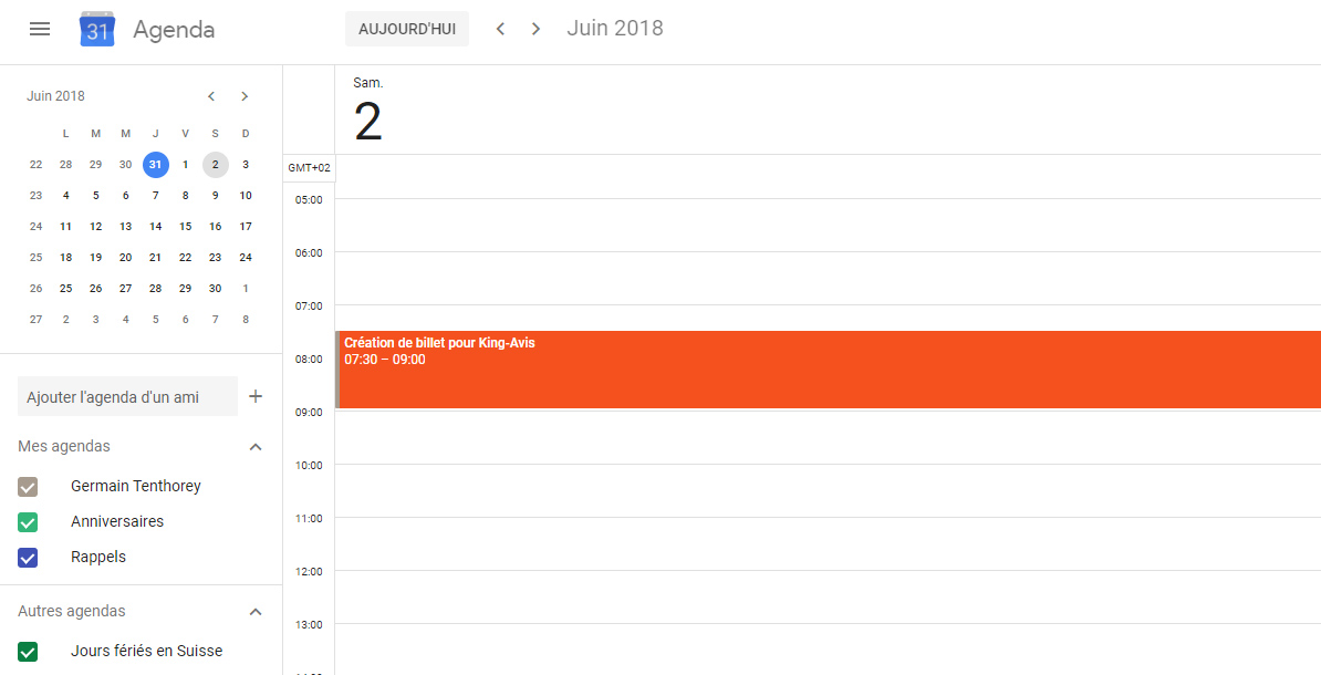 Google Agenda blog
