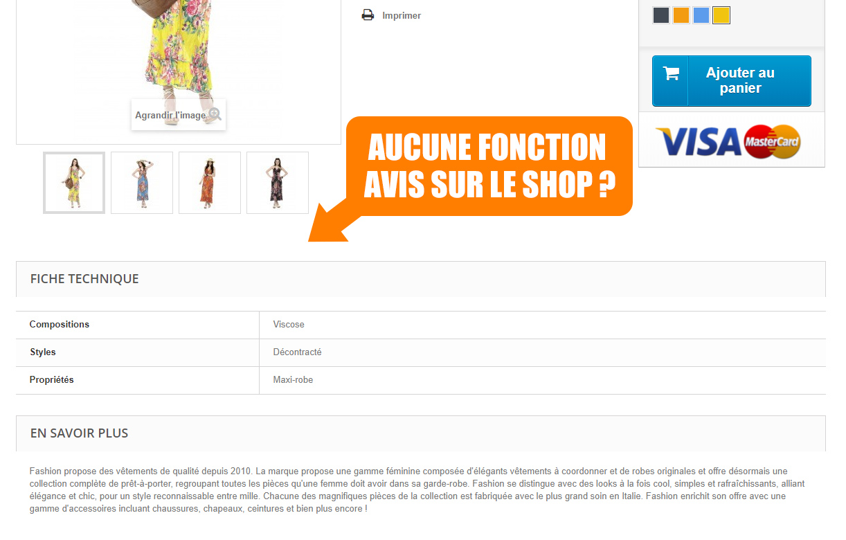 Avis clients Prestashop