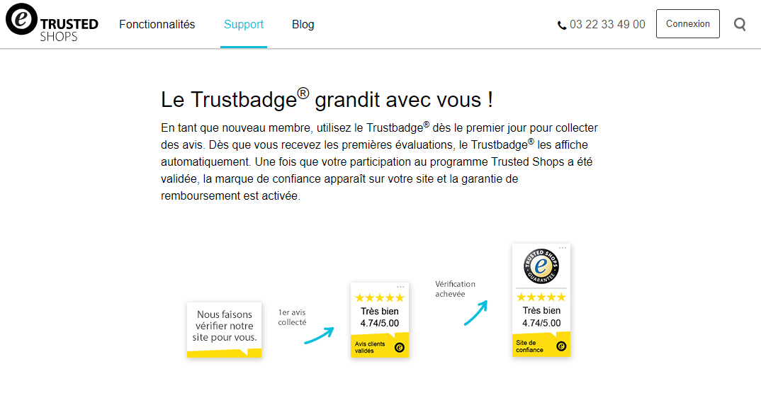 Personnaliser badge Trustedshops