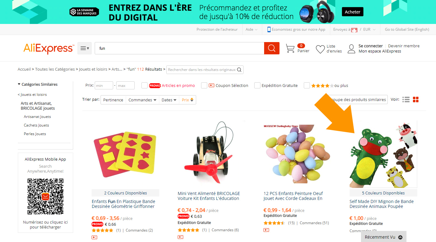 Grenouille Aliexpress
