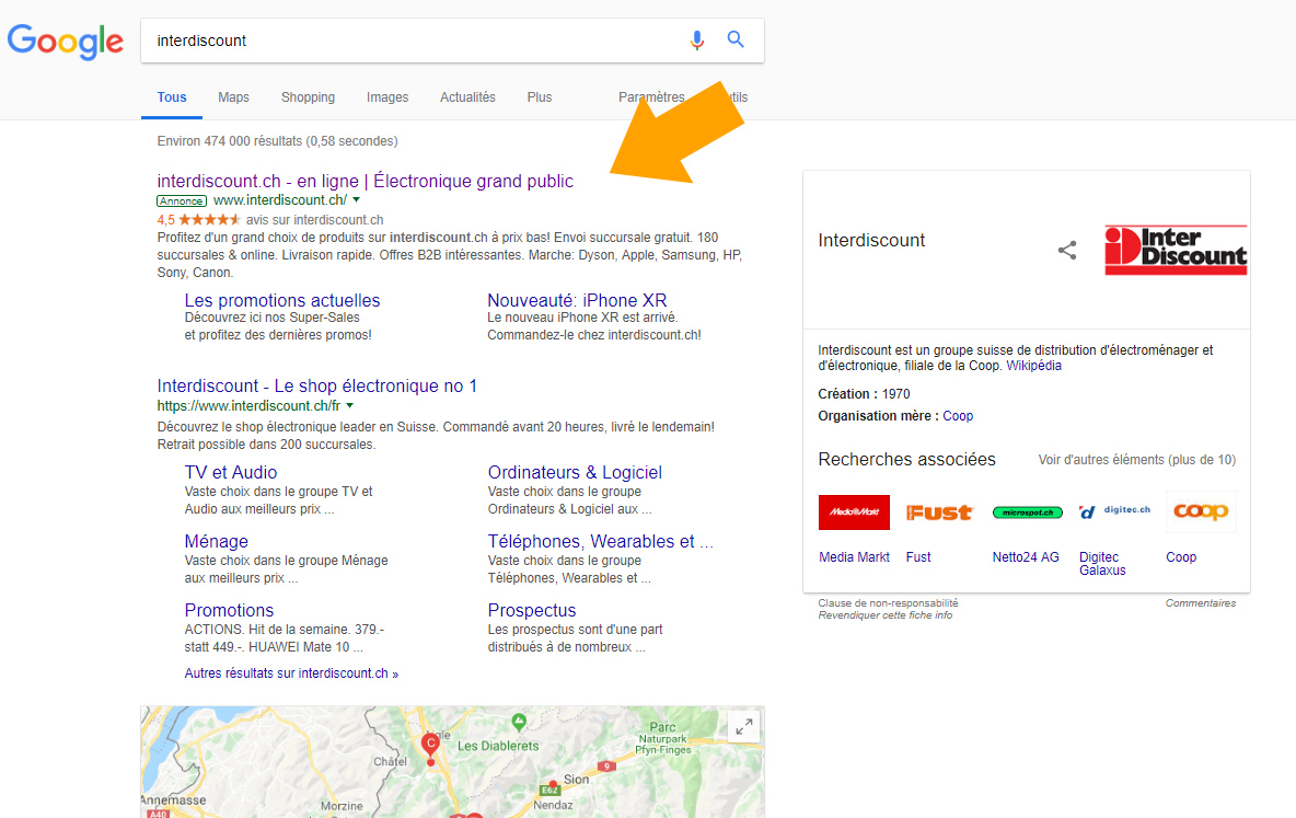 Google Adwords Extension annonces étoiles