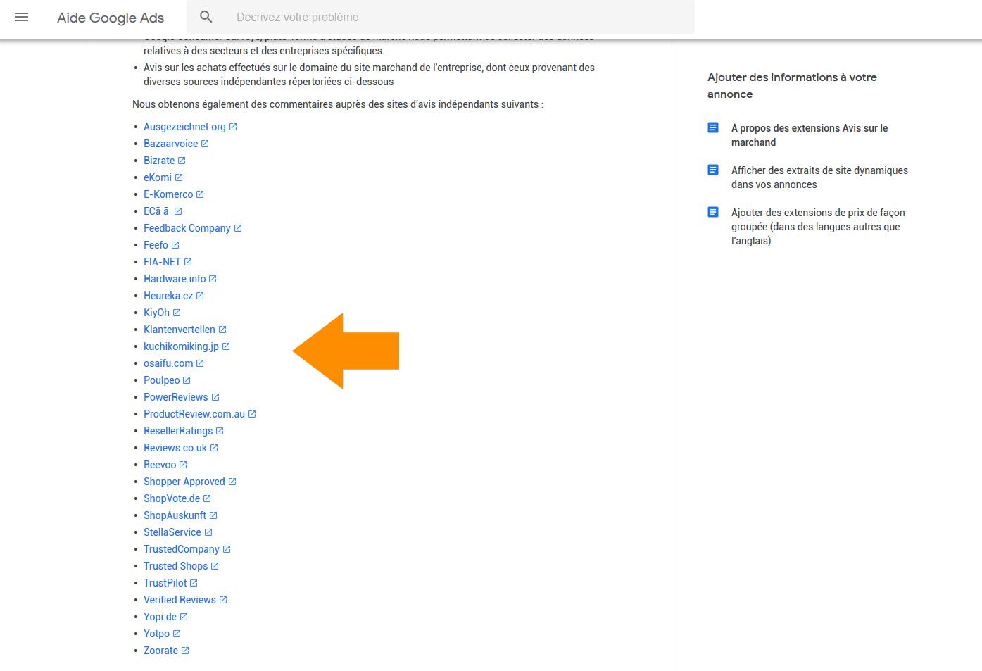 Plateformes avis clients Google
