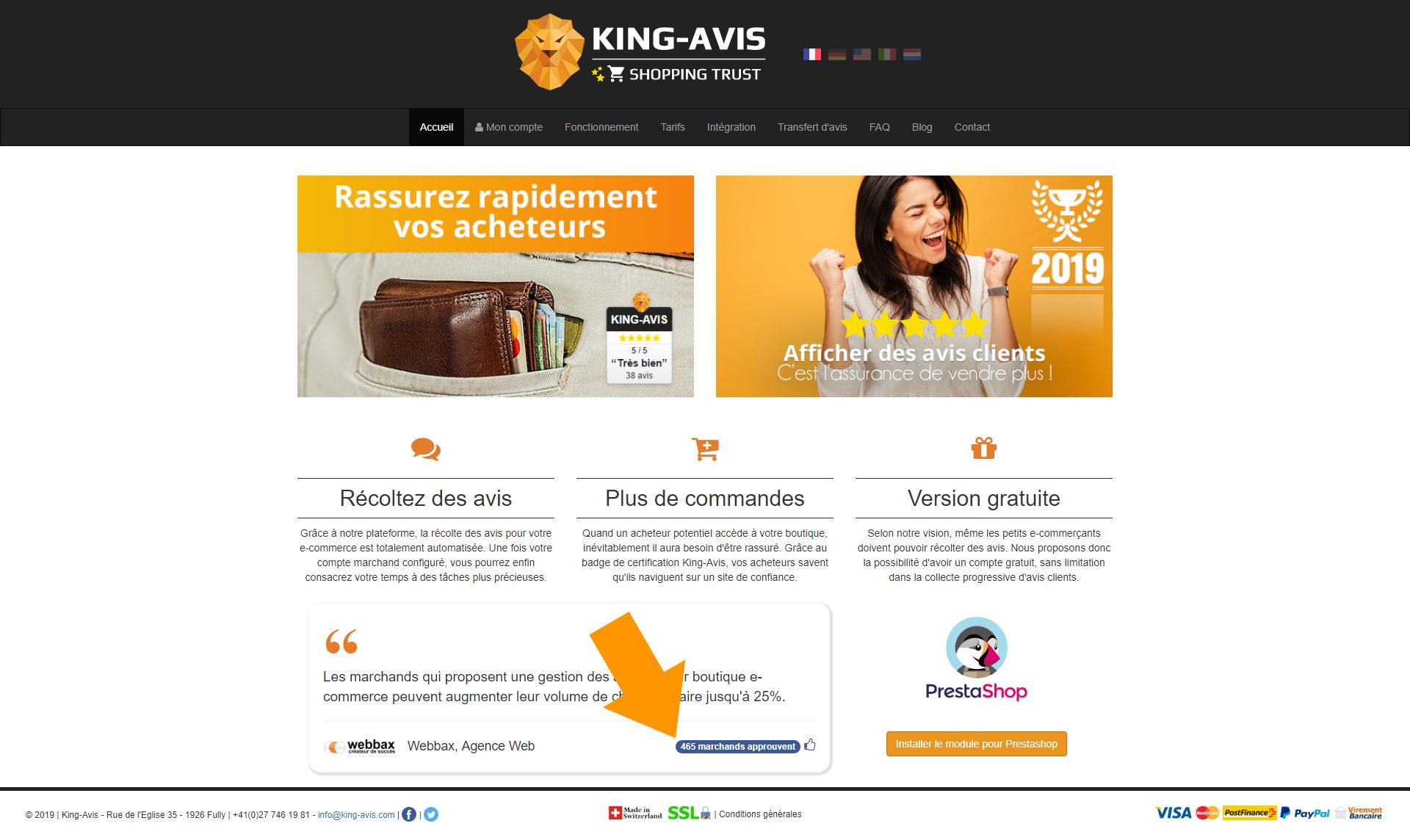 Marchands King-Avis