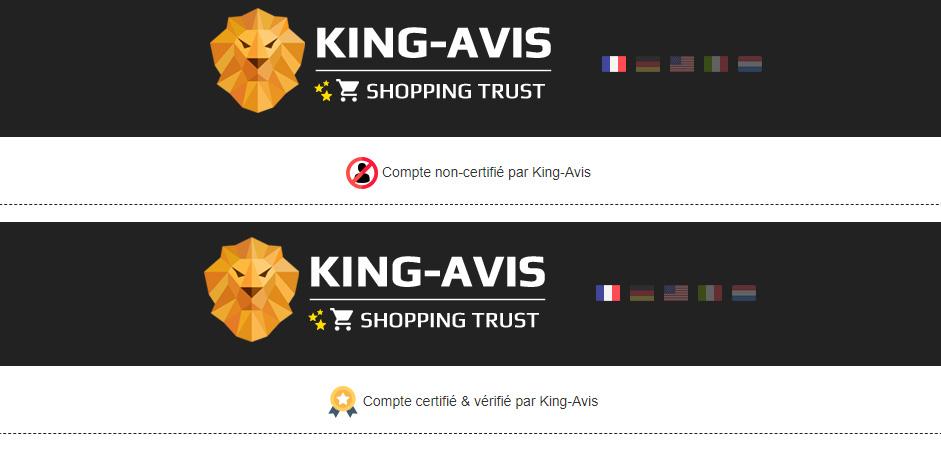 Compte e-commerçant certifiés