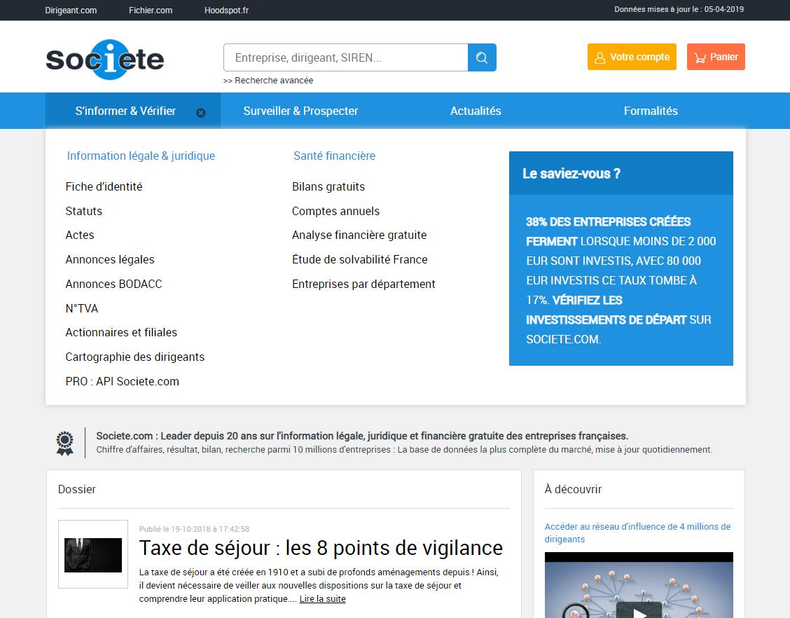 Registre sociétés françaises