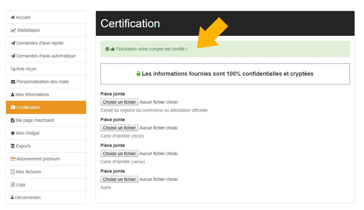 Certification e-commerce